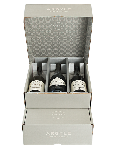 3 Bottle Box with wines